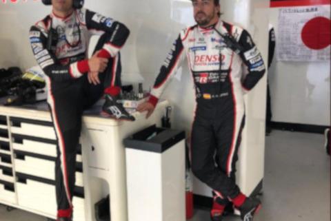 Sébastien Buemi i Fernando Alonso   Fot. Toyota