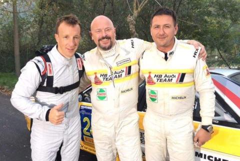 Kris Meeke, Grzegorz Olchawski i Łukasz Wroński | Fot. Facebook