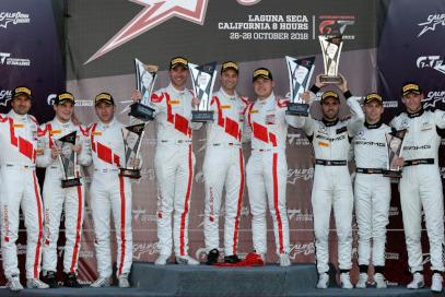 Podium California 8H   Fot. Audi Sport