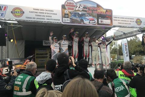 Podium Rallye Terre de Vaucluse   Fot. Twitter