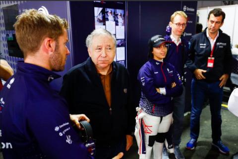Sam Bird, Jean Todt i Amna al-Qubaisi | Fot. Virgin Racing