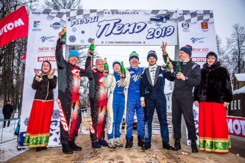 Podium Ralli Pieno | Fot. rally-peno.ru