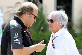 Bob Fernley and Bernie Ecclestone