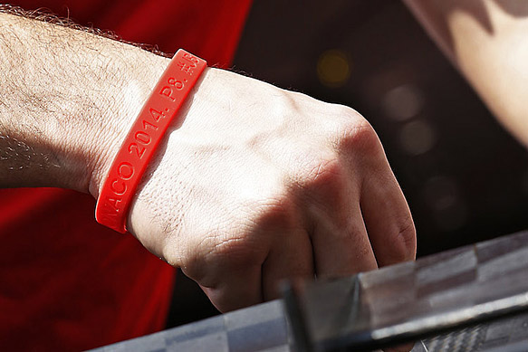 Manor's Jules Bianchi wristbands