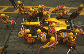 Ralf Schumacher, Jordan, Brazilian GP 1997, Interlagos, pitstop