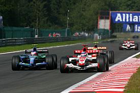 Takuma Sato, Super Aguri, and Rubens Barrichello, Honda, Belgian GP 2007, Spa