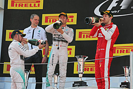 Spanish GP podium 2015