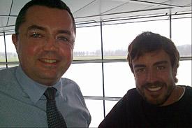 Eric Boullier, Fernando Alonso, McLaren 2015