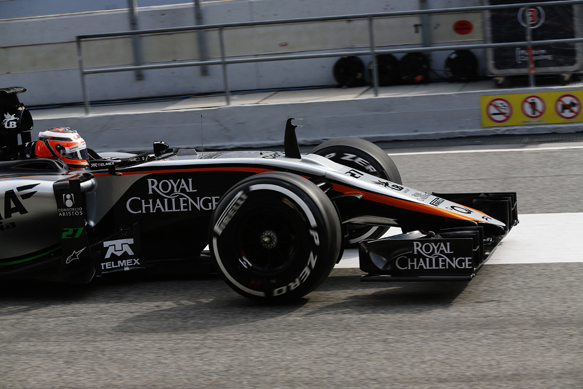 Hulkenberg, Force India, testing