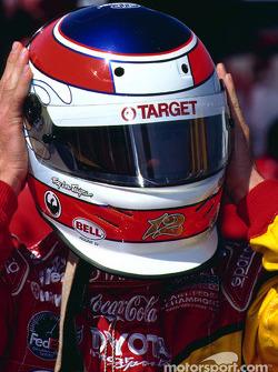 Jimmy Vasser adjusts his helmet