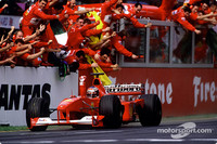 Michael Schumacher, Ferrari, remporte le Grand Prix