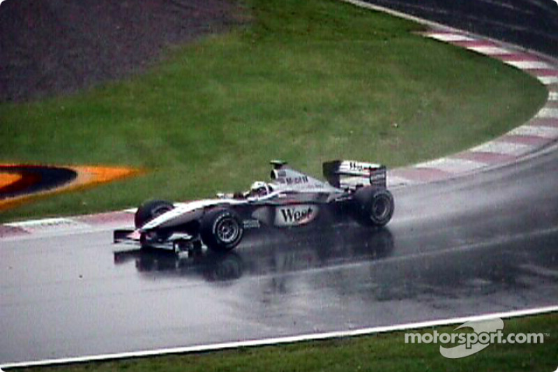 Hakkinen in the wet