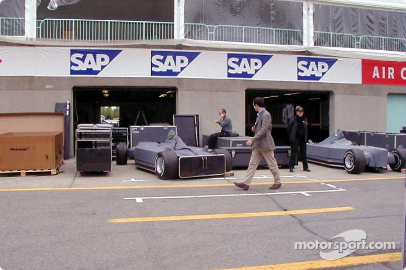 McLaren garage
