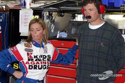 Shawna Robinson & car owner Michael Waltrip