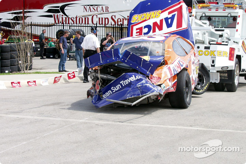 The Lance car gets eaten up