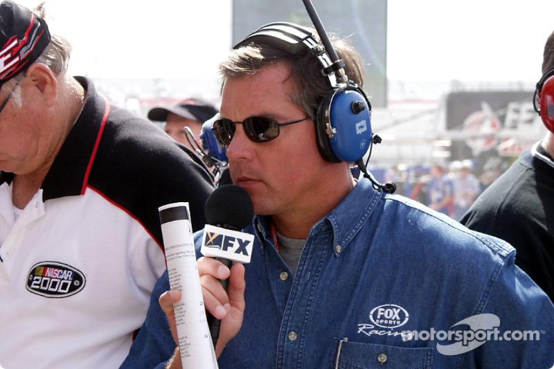 Jeff Hammond waiting to interview Ward