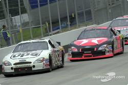 Dale Jarrett and Ricky Rudd race bumper to bumper