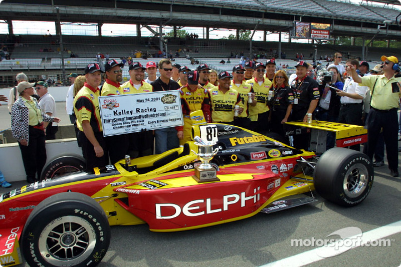 Kelley Racing Team celebrate Coors pit stop competition