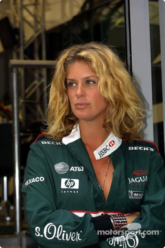 Jaguar's special guest in Monaco: supermodel/actress Rachel Hunter