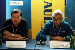 Patrick Faure and Flavio Briatore at the launch of the Renault Sport driver development program