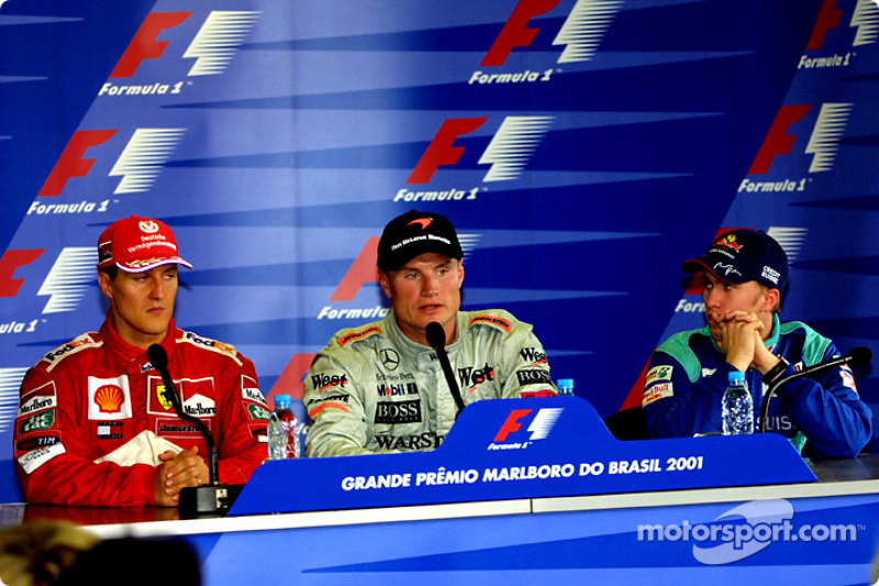 Press conference: Michael Schumacher, David Coulthard and Nick Heidfeld
