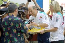 Sauber Petronas team in Johor Bahru: Peter Sauber