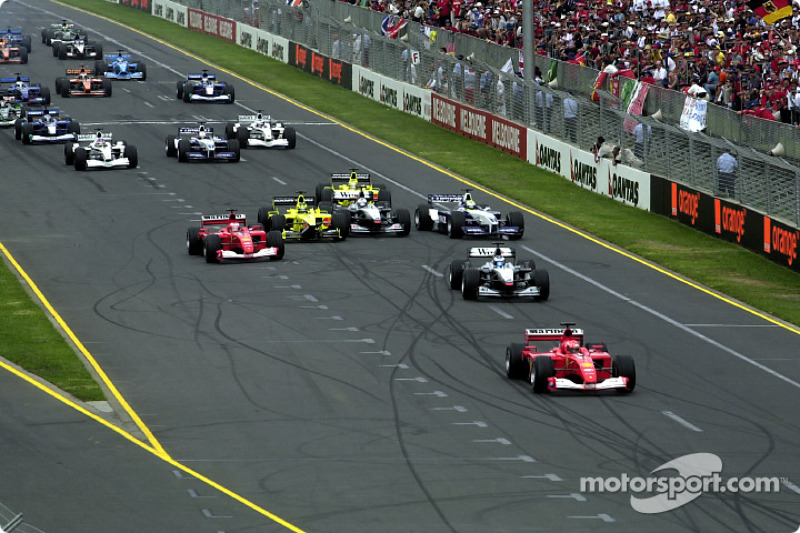 start: Michael Schumacher already front ve tough battles behind