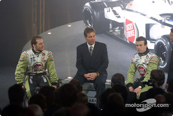 Jacques Villeneuve, Craig Pollock and Olivier Panis