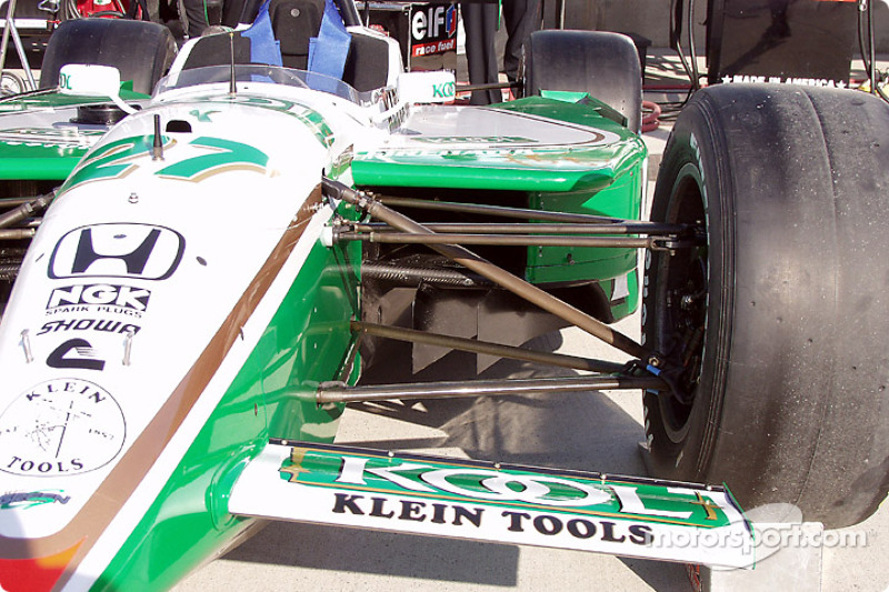 Team KOOL Green car, front suspension