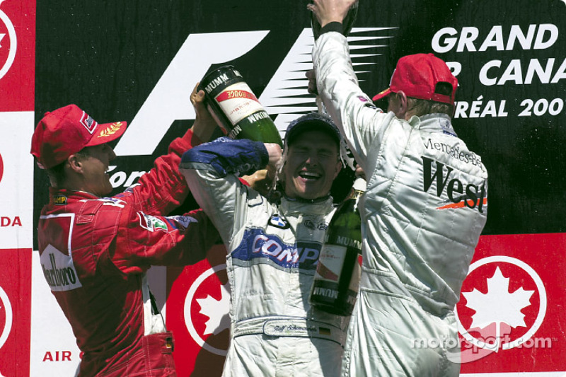 Michael Schumacher, Ralf Schumacher and Mika Hakkinen