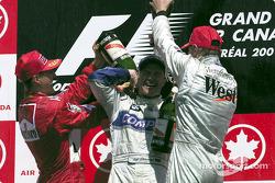 Michael Schumacher, Ralf Schumacher and Mika Hakkinen
