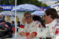 Champion Racing drivers Johnny Herbert and Didier Theys