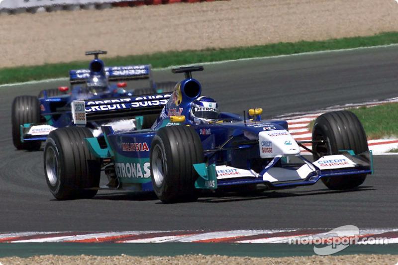 Kimi Raikkonen and Jean Alesi