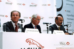 Jaguar Racing and HSBC renew sponsorship: Dr Wolfgang Reitzle, Sir John Bond and Bobby Rahal