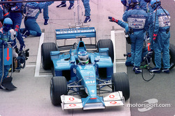Giancarlo Fisichella after his pitstop