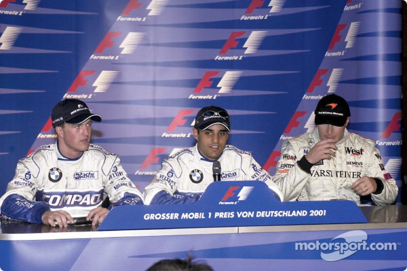 FIA Saturday press conference: Ralf Schumacher, Juan Pablo Montoya and Mika Hakkinen