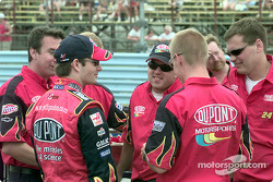Jeff Gordon with team