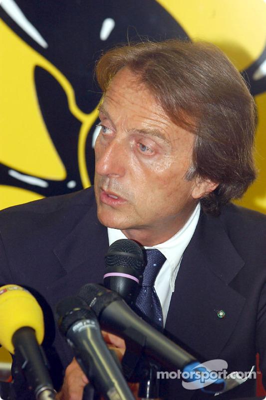 Press conference at the Fiorano track: Luca di Montezemelo