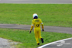 Jarno Trulli, out of the race