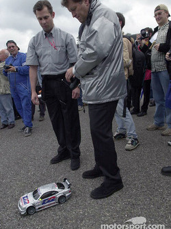 Norbert Haug having fun with radio-controlled car