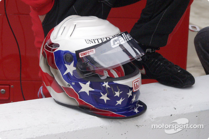 Al's helmet for the race