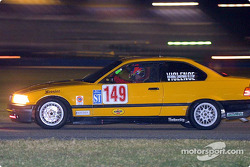 The #149 BMW of Leo Hindery, Peter Baron, and Tony Kester races to the ST class win