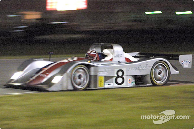 The #8 Nissan Lola of Anthony Lazarro, Terry Borcheller, and Bill Rand won the SRPII class
