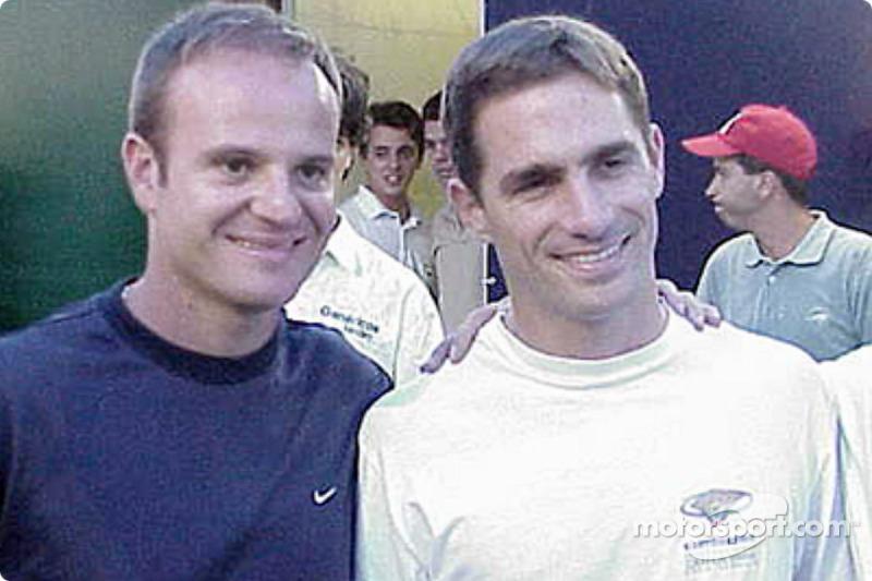 Rubens Barrichello and Felipe Giaffone before the race