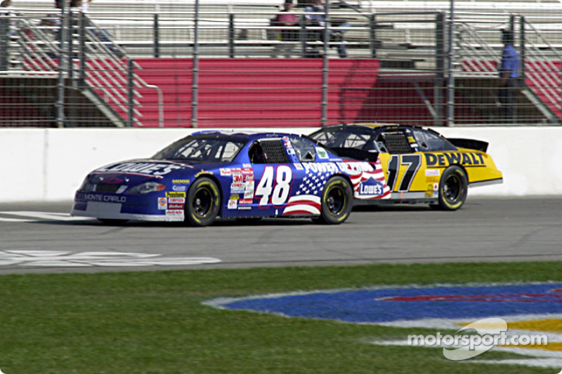 Jimmie Johnson and Matt Kenseth