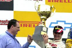 The podium: race winner Chico Serra