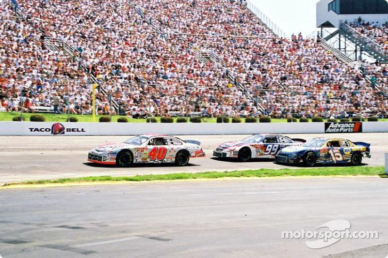 Sterling Marlin, Jeff Burton and Michael Waltrip