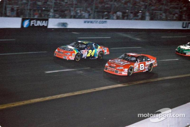 Dale Earnhardt Jr. and Jeff Gordon