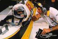 Alain Prost et Bernard Dudot pendant la séance d'essais