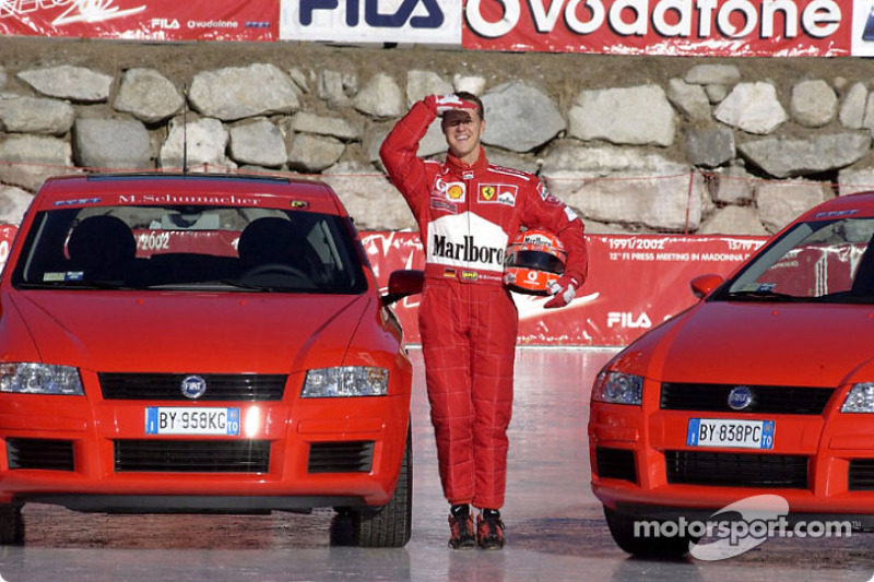 Michael Schumacher And The Fiat Stilo At Madonna Di
